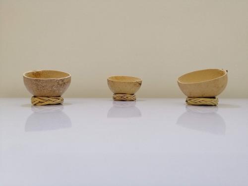 100 jícaras mezcaleras artesanales 2,3 y 4 oz, con rodete
