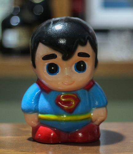 Alcancía superman recuerdo super heroes niños spiderman
