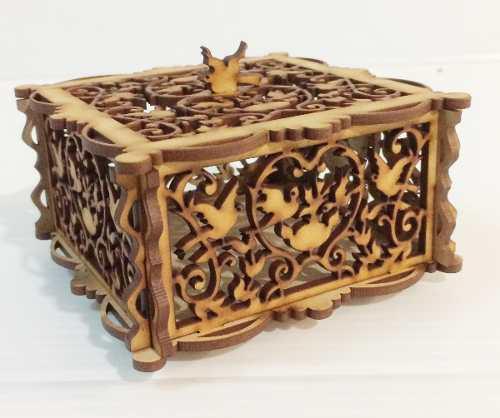 Caja alhajero navideño recuerdo mdf cajita barroco vintage