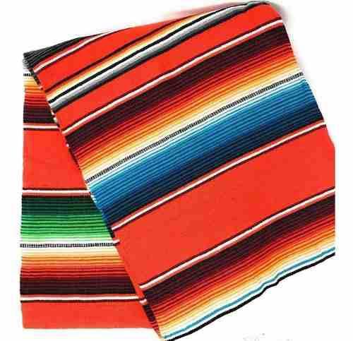 Camino de mesa 60 cm x 1.35 mts artesanía mexicana manta