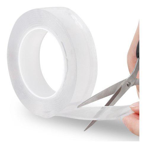 Cinta adhesiva lavable de doble cara, 5 m, reutilizable