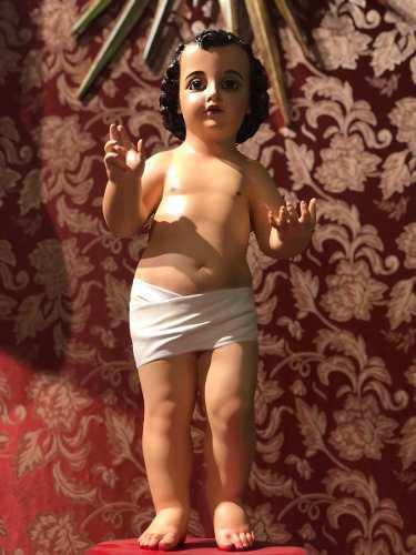 Figura del niño jesús de praga para vestir 67cm