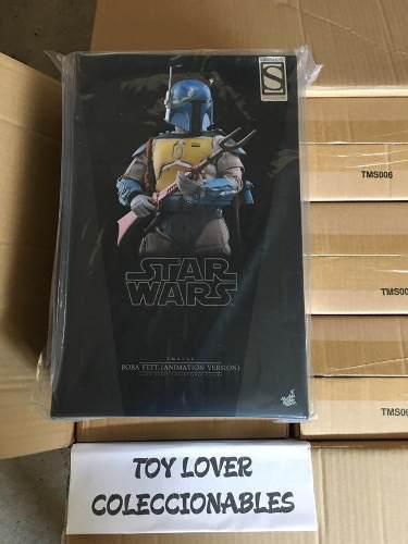 Hot toys star wars bounty hunter boba fett animado 1/6
