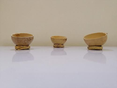 Jícaras mezcaleras artesanales 2,3 y 4 oz, con rodete