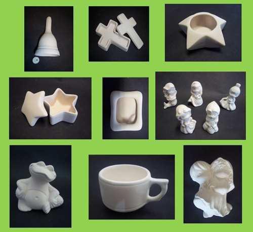 Paquete De 100 Figuras Chicas De Ceramica Para Pintar En México Clasf Casa Y Jardin