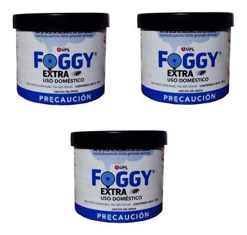 Paquete de 3 foggy de 45g c/u generador humo insecticida