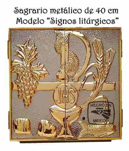 Sagrario o tabernaculo modelo signos litúrgicos
