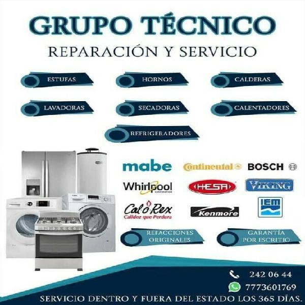 Servicio y reparación, grupo técnico
