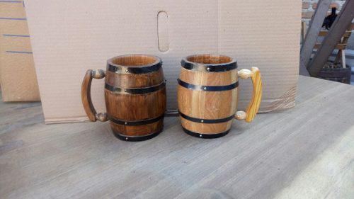Tarros de madera 1 litro.