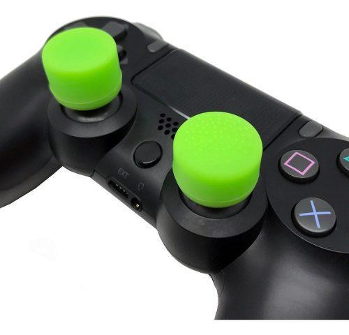 8 gomas silicona thumb grips joystick xbox ps4 switch