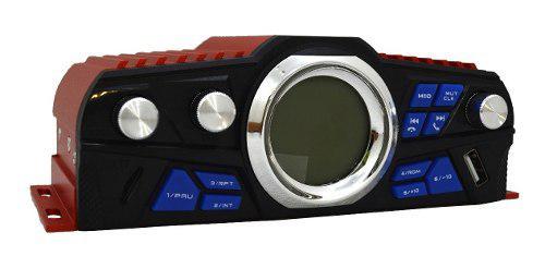 Amplificador 25 w usb sd y radio fm 4 canales control remoto
