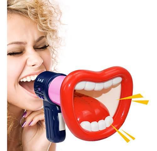 Juguete de cuerno cambiador de voz altavoz amplifica el efec
