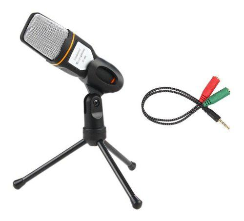 Micrófono tripode estudio 3.5 mm pc laptop celular