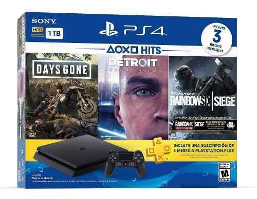 Nueva consola ps4 1tb paquete 3 juegos + 3 meses plus regalo