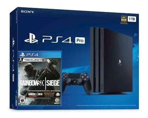 Playstation 4 pro ps4 pro con juego rainbow six nuevo