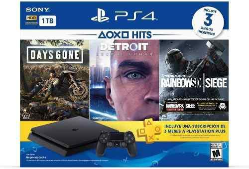 Playstation 4 ps4 1 tb slim hits bundle 5 + destiny 2
