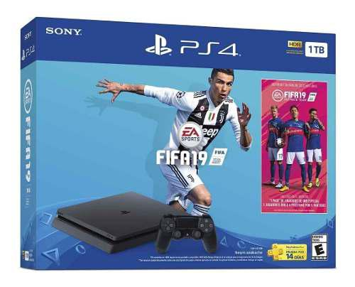 Playstation 4 slim ps4 1tb fifa 19 nuevo a msi