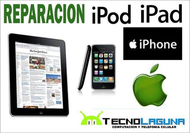 Reparación de ipad, ipod, iphone, macbook todas las