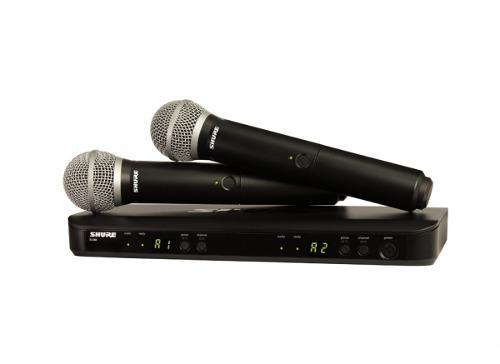 Shure blx288/pg58 - sistema inalámbrico con 2 mic fk12