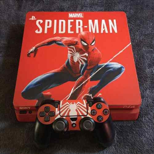 Skin para ps4 slim spiderman spider-man marvel