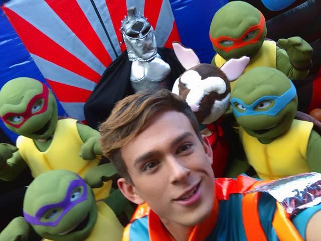 Emocionante show de las tortugas ninja