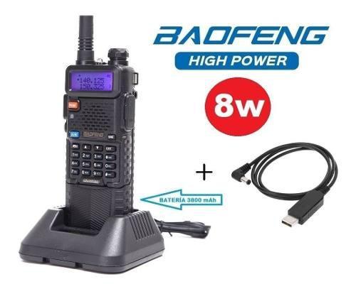 8w Radio Baofeng Uv-5r Batería 3800 Mah + Cable De Carga