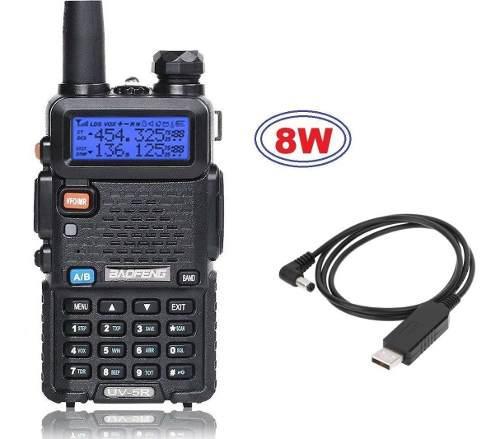 8w radio baofeng uv-5r vhf/uhf * tri power * + cable usb