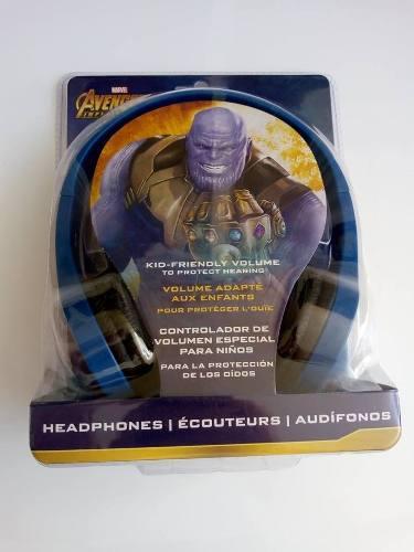 Audífonos para niños ihome marvel avengers ironman thanos