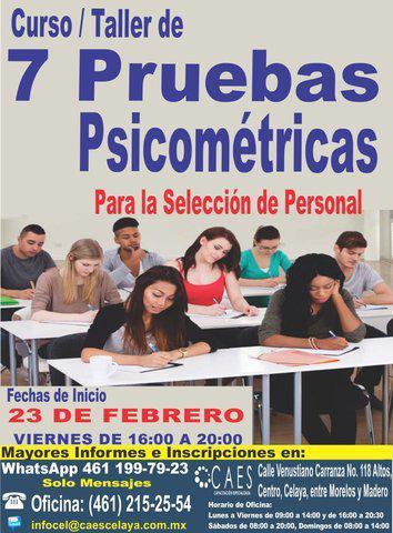 Curso 7 pruebas psicométricas para la selección de
