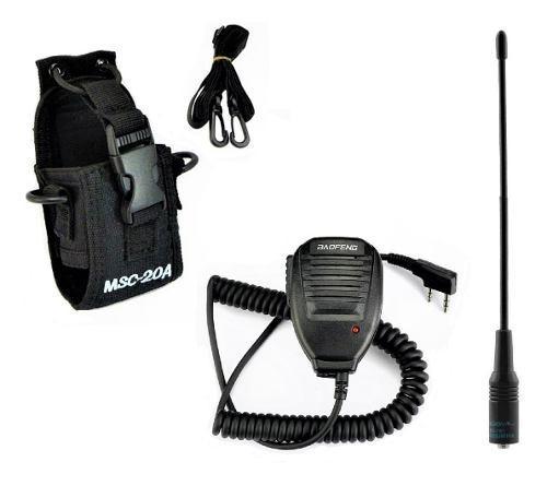 Funda nylon radios baofeng + micro + antena nagoya na-701