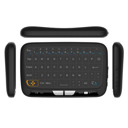 H18 2.4ghz teclado inalámbrico completo touchpad
