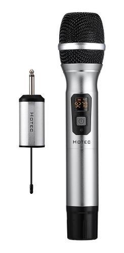 Hotec - micrófono inalámbrico de mano uhf de 25 canales