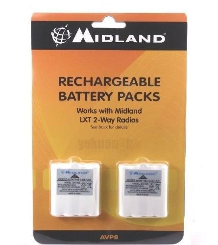 Midland avp8 paquete de 2 baterias recargables - batt6r
