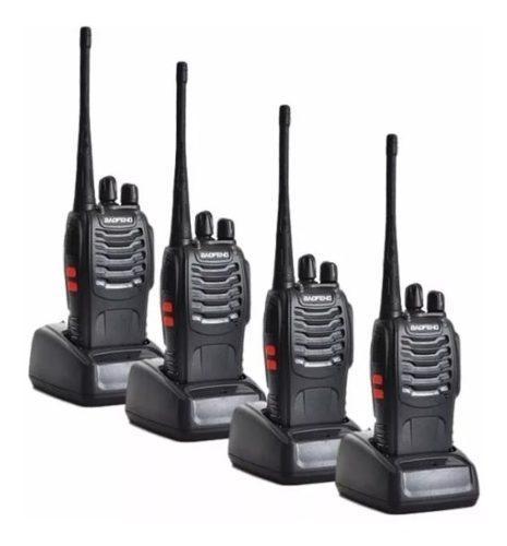 Radio baofeng bf-888s 4-pack analógico portatil walkie uhf