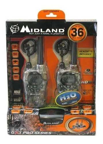 Radios midland camo gxt1050vp4 58km* 36 millas 2 vías