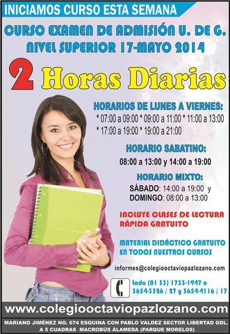 Cursos universidad de guadalajara 2 horas diarias