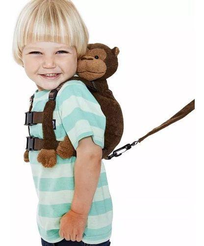 Arnes seguridad niños con correa y simpatico changuito