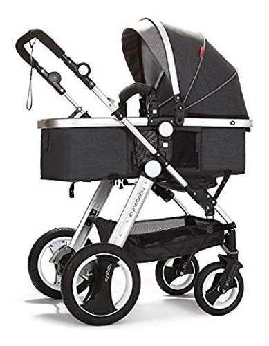 Carreola bebe cyberbody de lujo convertible 2 en 1 gris