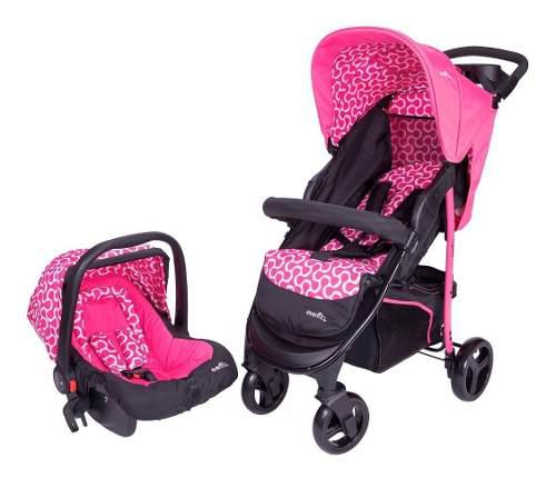Carriola de bebe evenflo explorer portabebe/autoasiento rosa