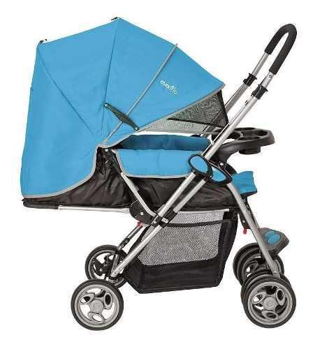 Carriola grand trip azul para bebé evenflo nuevo