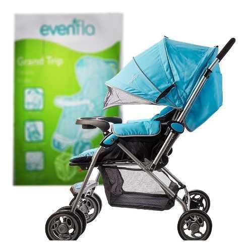 Carriola plegable para bebé -evenflo grand trip,azul