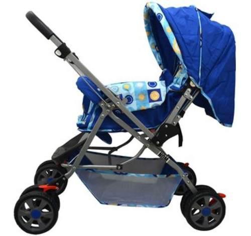 Carriola reversible azul para bebé angelin nuevo 555k