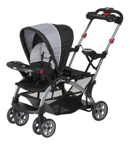 Cochecito de bebé sit n' stand gris/negro