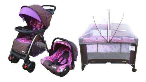 Combo para bebe carriola, portabebe y corral aeiou nuevo