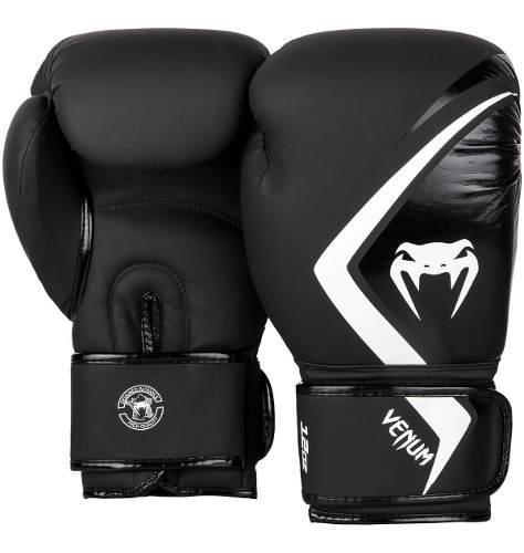 Guantes de box venum contender 2.0 negro/blanco 14 oz.
