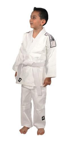 Judogi Judogui Fire Sports 450gr Infantil Blanco Niños