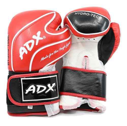 Kit adx par de guantes box entrenamiento en piel color rojo