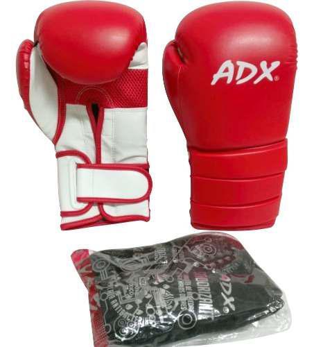 Kit adx par de guantes box entrenamiento poliuretano rojos