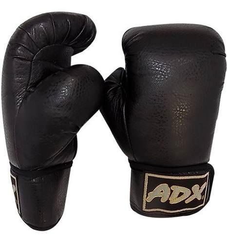 Par guantes box adx entrenamiento vinil talla juvenil negros