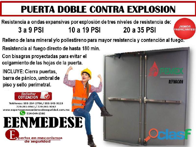 Puerta doble contra explosión eenmedese